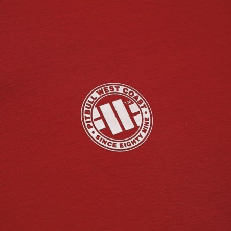 Pit Bull Bluza z kapturem rozpinana French Terry Small Logo Czerwona 3