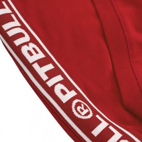 Pit Bull Bluza z kapturem rozpinana French Terry Small Logo Czerwona 4
