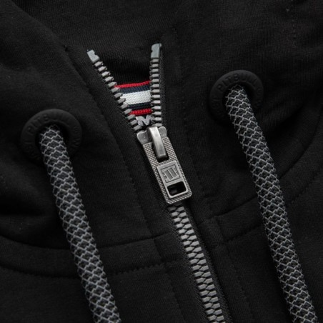 Pit Bull Bluza z kapturem rozpinana French Terry Small Logo Czarna 6