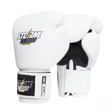 StormCloud Rękawice do Muay Thai Blizzard Classic Białe 1