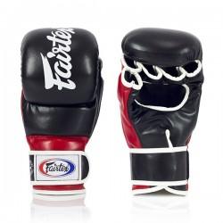 Fairtex Rękawice do MMA sparingowe FGV18 Czarne/Czerwone 1