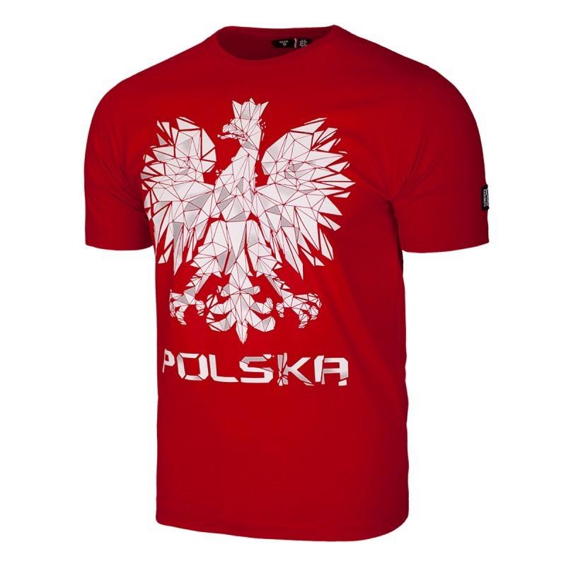 Extreme Hobby T-shirt Polska Godło Czerwony