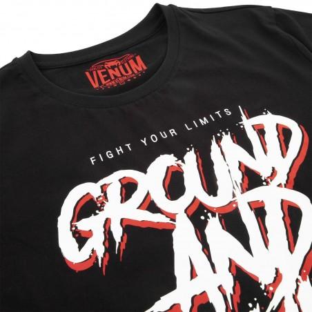 Venum T-shirt Ground And Pound Czarny 3