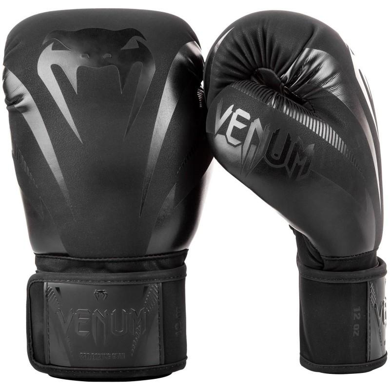 Venum Rękawice bokserskie Impact Czarne/Czarne