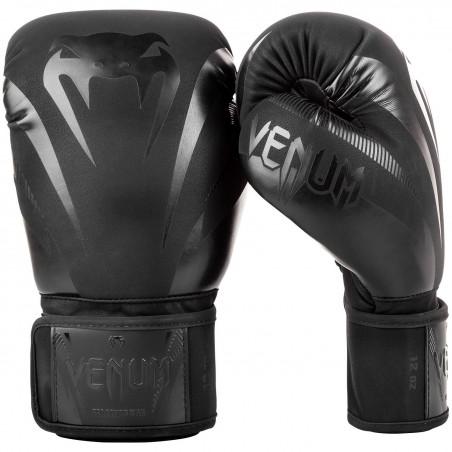 Venum Rękawice bokserskie Impact Czarne/Czarne 1