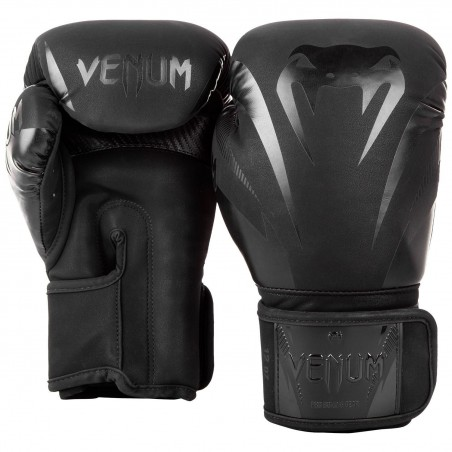 Venum Rękawice bokserskie Impact Czarne/Czarne 2