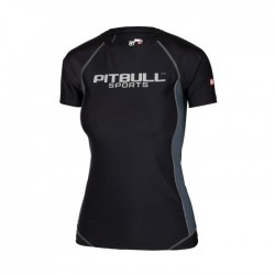 Pitbull Rashguard Damski Compression Pro Plus Czarny 1