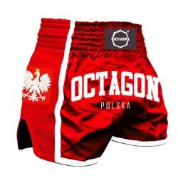 Octagon Spodenki Muay Thai Polska Czerwone 1