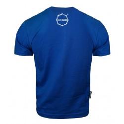 Octagon T-shirt Logo Smash Niebieski 1
