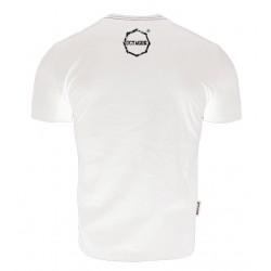 Octagon T-shirt Logo Smash Biały 1