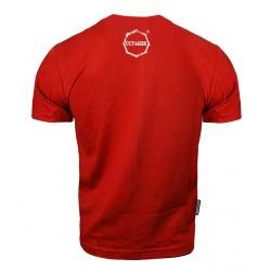 Octagon T-shirt Logo Smash Czerwony 1