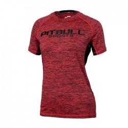 Pitbull Rashguard Damski Performance Pro Plus Czerwony 1