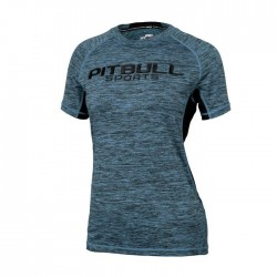 Pitbull Rashguard Damski Performance Pro Plus Turkusowy 1