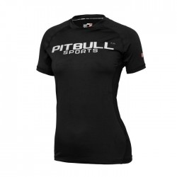 Pitbull Rashguard Damski Performance Pro Plus Czarny 1