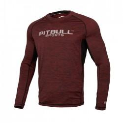 Pitbull Rashguard Performance Pro Plus Burgundowy Długi Rękaw 1
