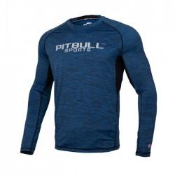 Pitbull Rashguard Performance Pro Plus Niebieski Długi Rękaw 1