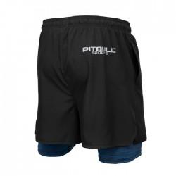 Pitbull Spodenki Sportowe Performance Pro Plus 2in1 Czarne/Niebieskie 1