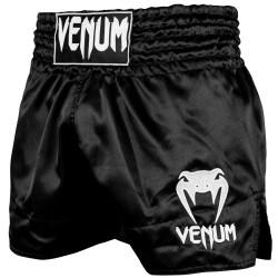 Venum Spodenki Muay-Thai Classic Czarne/Białe 1