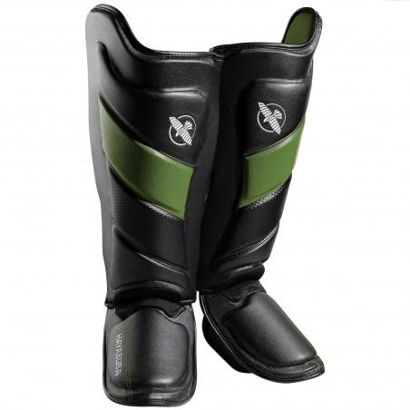 Hayabusa Ochraniacze Piszczeli T3 Striking Czarne/Zielone 1