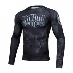 Pit Bull Rashguard Skull Dog 19 Długi Rękaw Czarny 1