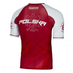 Extreme Hobby Rashguard Polska 2 Krótki Rękaw Czerwony 1