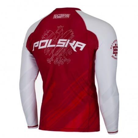 Extreme Hobby Rashguard Polska 2 Długi Rękaw Czerwony 2