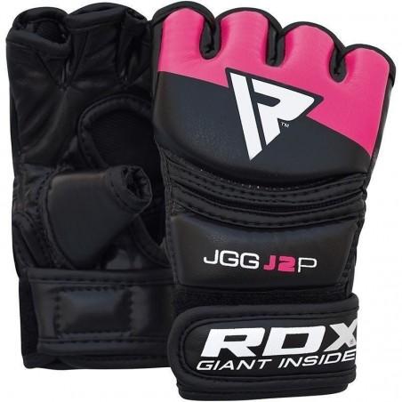 RDX Rękawice MMA dla dzieci JGG-J2 Czarne/Różowe 2