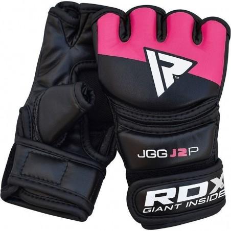 RDX Rękawice MMA dla dzieci JGG-J2 Czarne/Różowe 4