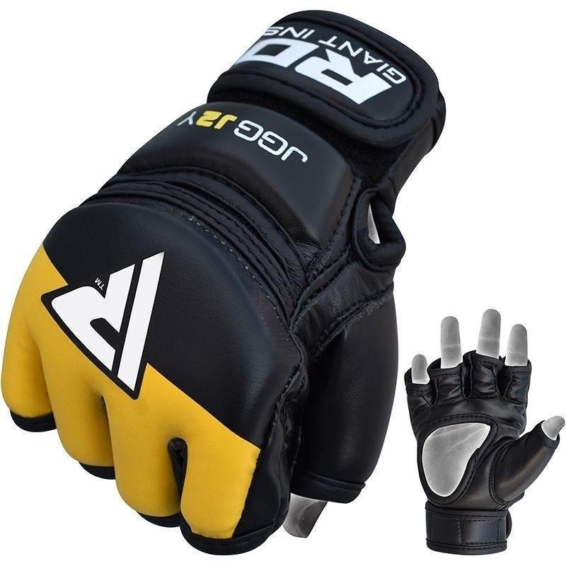 RDX Rękawice MMA dla dzieci JGG-J2 Czarne/Żółte