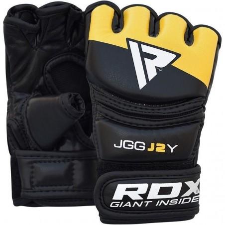 RDX Rękawice MMA dla dzieci JGG-J2 Czarne/Żółte 2