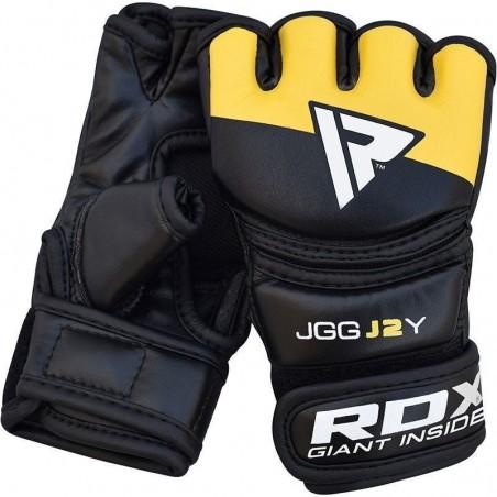 RDX Rękawice MMA dla dzieci JGG-J2 Czarne/Żółte 4