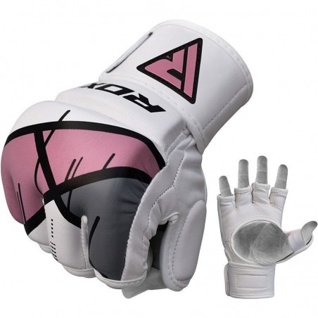 RDX Rękawice do MMA GGL- T7 Różowe 1