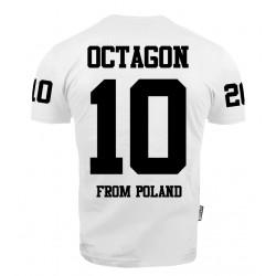 "Octagon T-shirt ""10"" Biały"