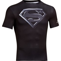 Under Armour Alter Ego Compression Shortsleeve Superman Czarny 1
