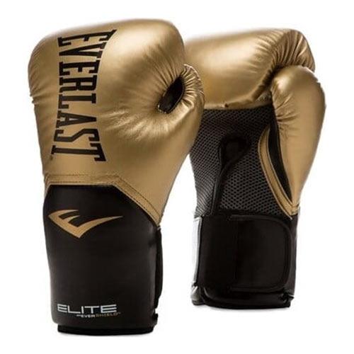 Rękawice ze skóry syntetycznej Everlast Rękawice bokserskie Pro Style Elite 2 Złote