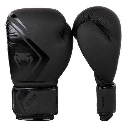 Rękawice ze skóry sztucznej Venum Rękawice bokserskie Contender 2.0 Czarne/Czarne