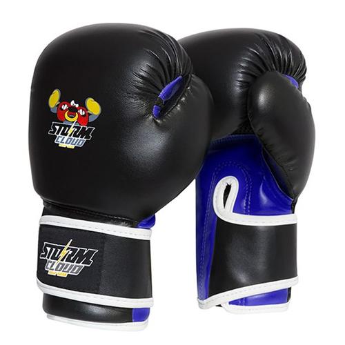 StormCloud Rękawice bokserskie dla dzieci Fighter Czarne/Niebieskie