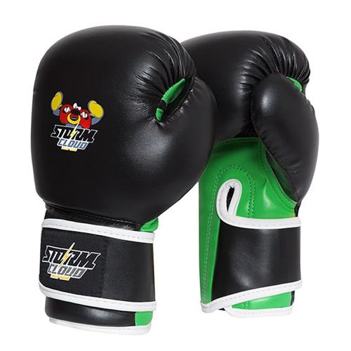 StormCloud Rękawice bokserskie dla dzieci Fighter Czarne/Zielone