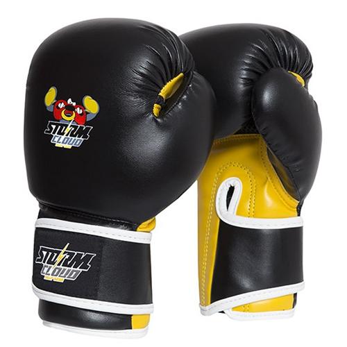 StormCloud Rękawice bokserskie dla dzieci Fighter Czarne/Żółte
